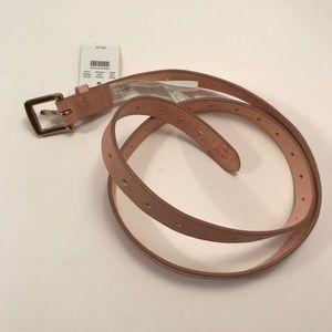 J. Crew Accessories - J.Crew Perforated Dark Mauve Italian Leather Belt